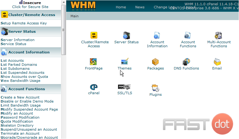Create a hosting package in WHM