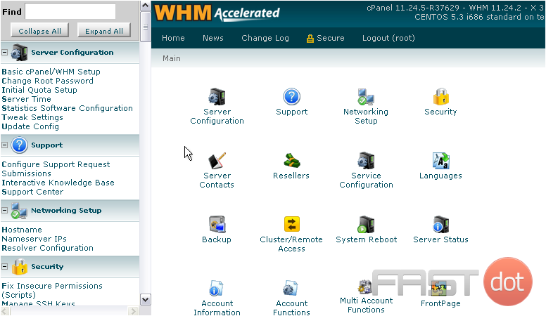Change an account owner in WHM