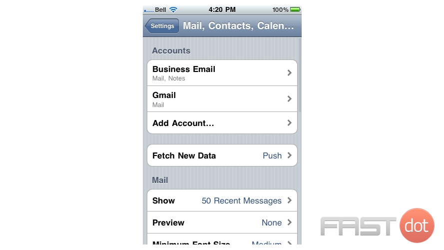 Change the email password on your iPhone