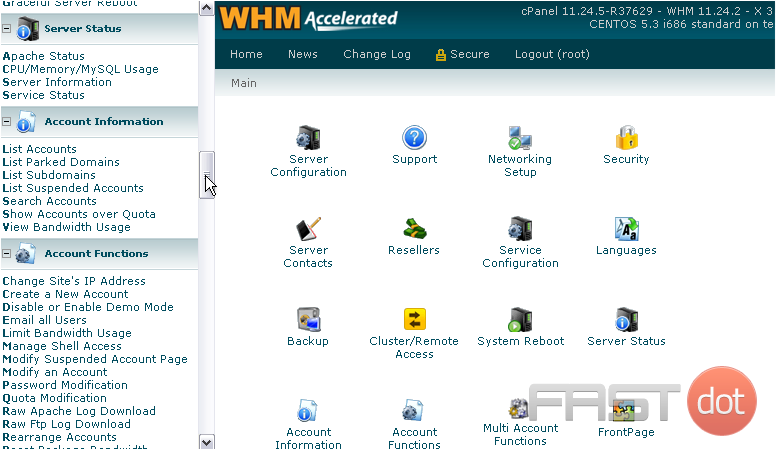 list all the parked domains in WHM