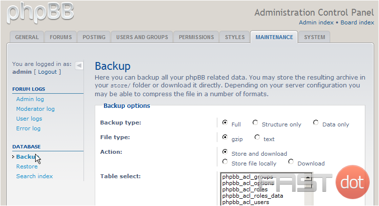backup your database in phpBB
