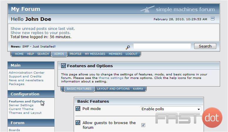 Configure Features in SMF