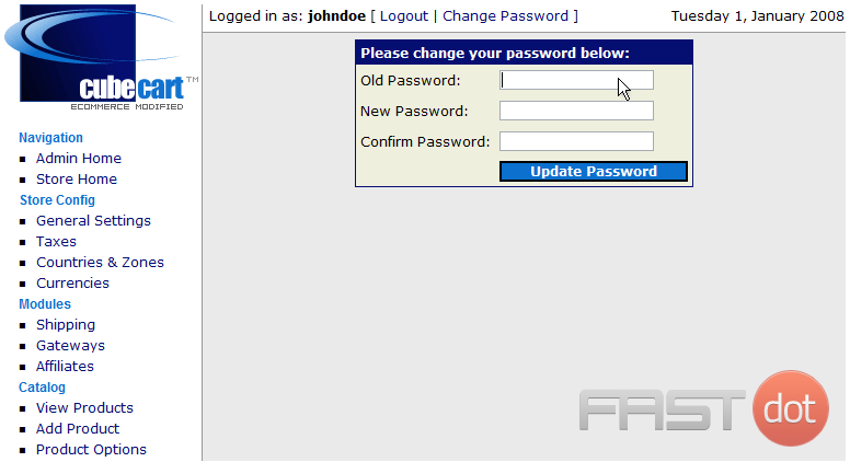 2) Enter your <strong>Old Password</strong> here