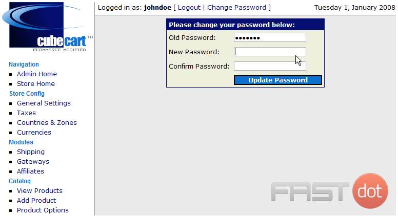 3) Enter the New Password and confirm it to verify