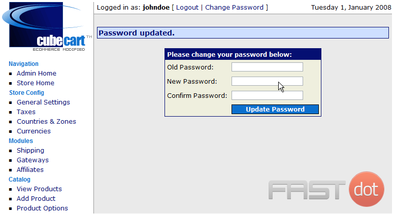 That's it!  The Admin password has been changed