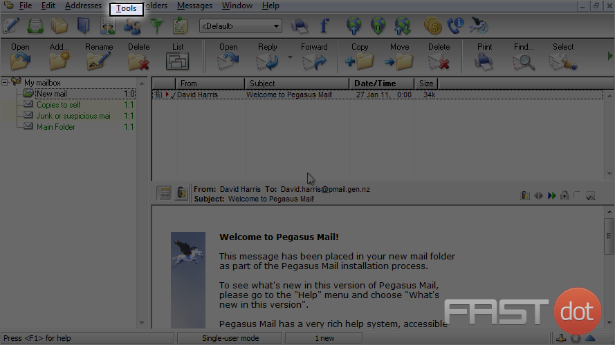 Setup an IMAP account with SSL in Pegasus Mail