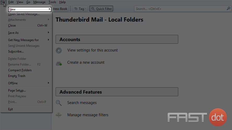Setup a POP email account in ThunderBird